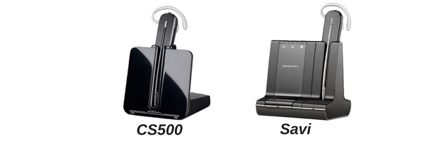 Plantronics CS500 and Savi images