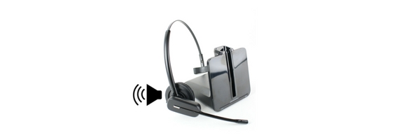 image of Plantronics CS540 wireless headset beeping
