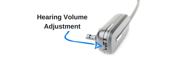 image of Plantronics CS540 wireless headset top volume adjustment