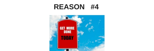 graphic image saying get more done today