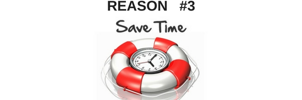 animated image of life preserver with clock saying save time