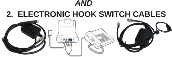 images of headset electronic hookswitch cables