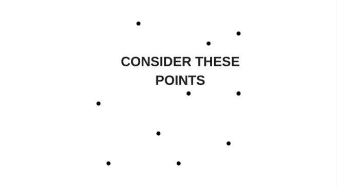 image showing black dots and consider these points