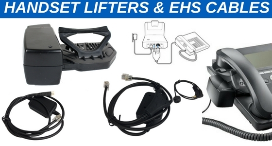 handset lifters and electronic hook switch cables
