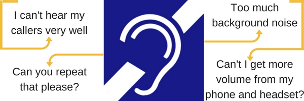graphic showing an ear and hearing related questions