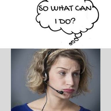 image of woman with office headset asking so what can I do?