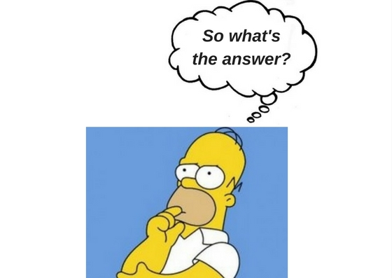 cartoon character asking so, what's the answer?