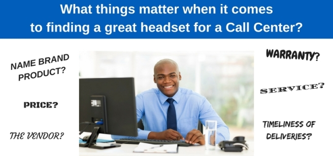 businessman at desk asking what things matter when buying headsets