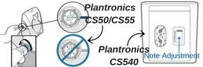 Plantronics CS55 and Plantronics CS540