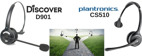 Discover D901 and Plantronics CS510 wireless headset
