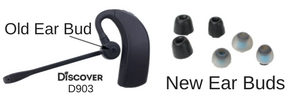 Discover D903 wireless headset with ear buds