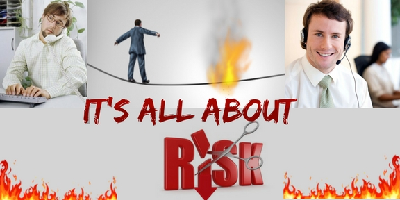 it's all about risk graphic