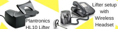 Plantronics HL10 lifter and phone with wireless headset and lifter