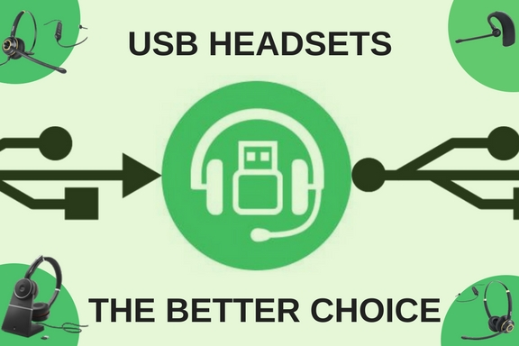 graphic of USB headset saying USB headsets the better choice