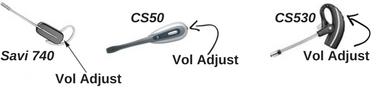 Plantronics Savi 740, CS50 and Plantronics CS530