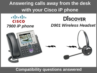 Cisco 7945 phone and Discover D901 wireless headset