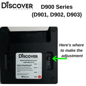 Discover D903 charging base adjustments