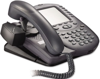 Handset Lifter accessory attached to a desk phone
