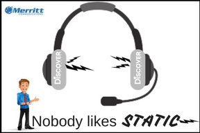 wireless headset with static