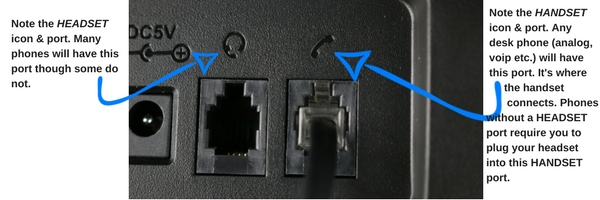 image of bottom connections on a telephone