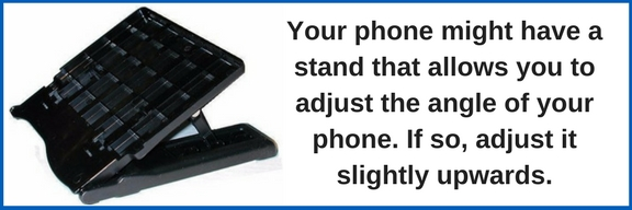 adjustable desk phone stand