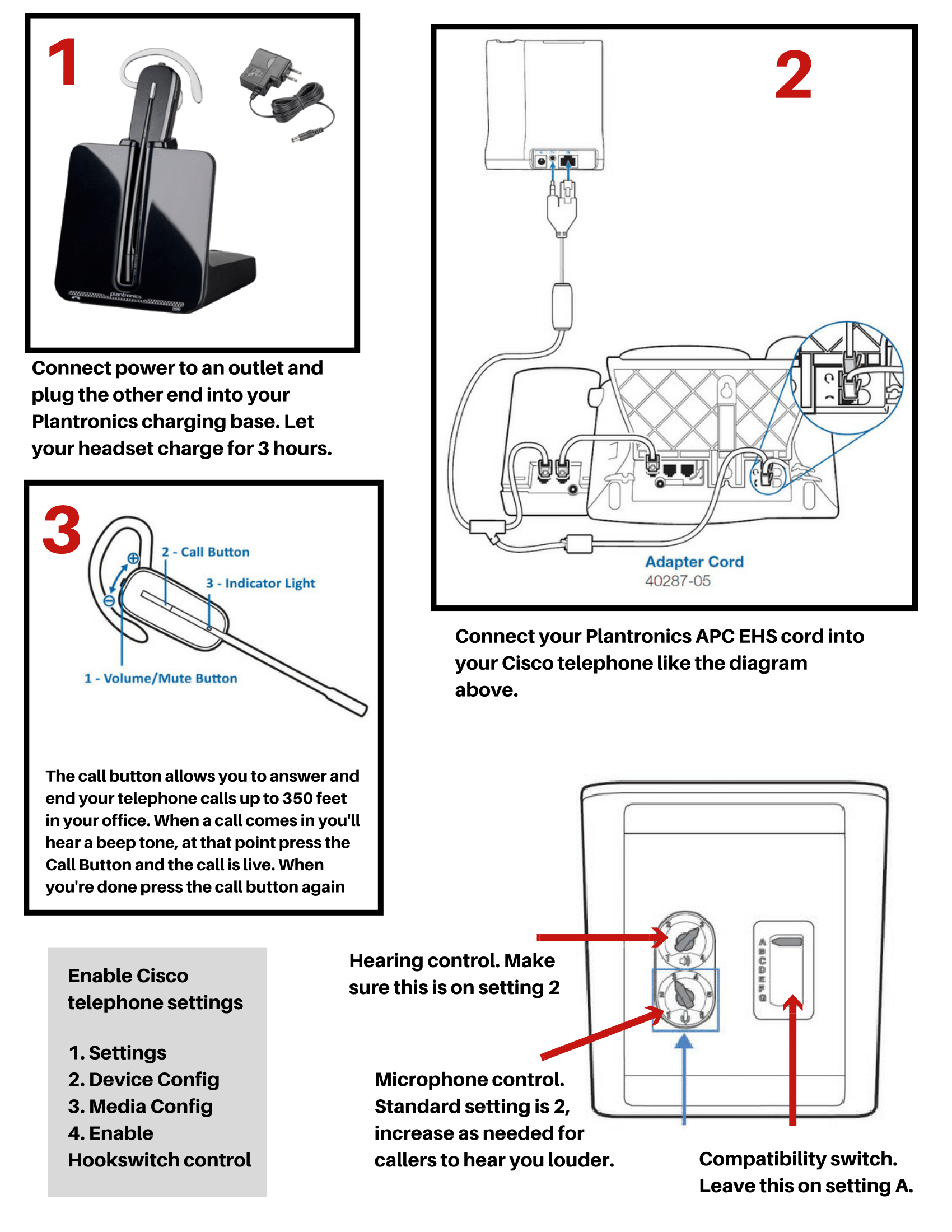 Cs540ehsciscoadaptersetup Guide1: Plantronics Wiring Diagram At Outingpk.com