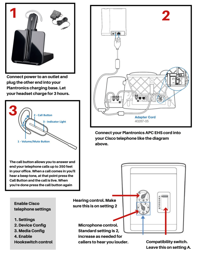 Plantronics CS540 Setup Guide With Cisco 7900 Series