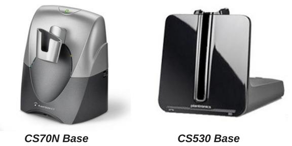 Plantronics CS70N base and CS530 base