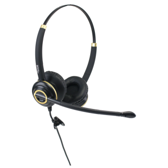 Discover D712 binaural wired headset