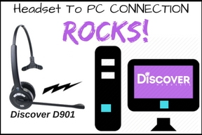 Discover D901 wireless headset and a PC