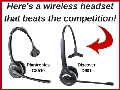 image of Plantronics CS510 and Discover D901 wireless headsets