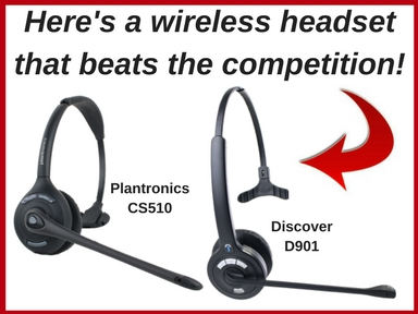 Here's a wireless headsetthat beats the competition!