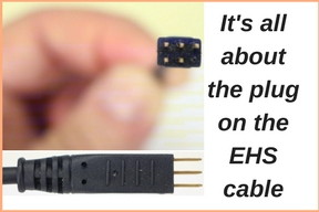 Electronic Hookswitch Cable with pins exposed