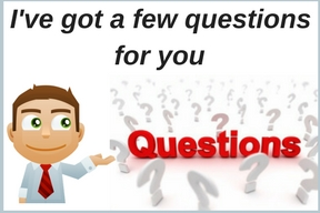 animated businessman saying I've got a few questions for you