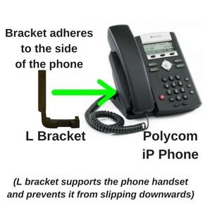 L bracket and Polycom SoundPoint iP phone