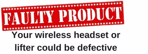 graphic of the words faulty product