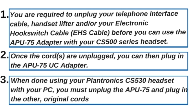 3 things to know about using the Plantronics APu-75 UC Adapter