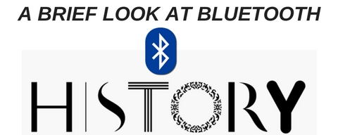 bluetooth logo and word art saying history