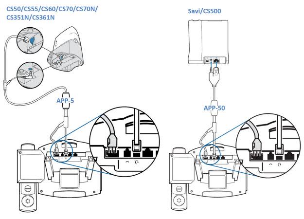 2 Step Plantronics APP-5 or APP-51 EHS Setup Guide