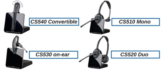 Plantronics CS540, CS530, CS510 and CS520 wireless headsets