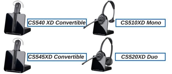 Plantronics CS540XD, CS545XD, CS510XD and CS520XD wireless headsets
