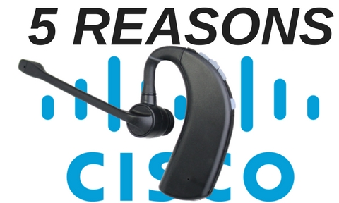 Discover D903 wireless headset and Cisco logo