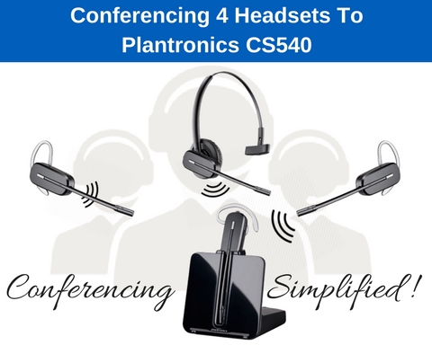 Plantronics CS540 wireless headsets