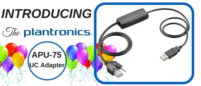 Plantronics APU-75 UC Adapter and balloons