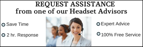 business people on headsets requesting customers to call for free assistance