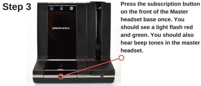 Plantronics Savi W02 wireless headset base