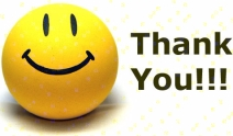 yellow ball with smiley face saying thank you