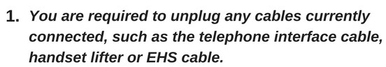 unplug the current cables