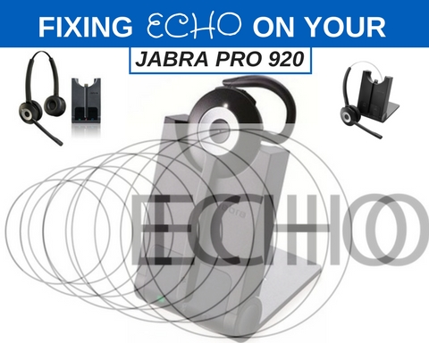 Jabra pro 920 and a graphic of echo