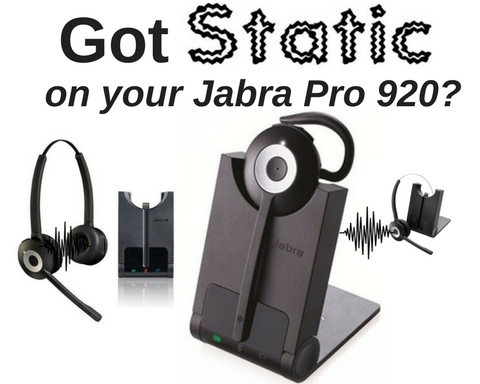 three Jabra Pro 920 headsets